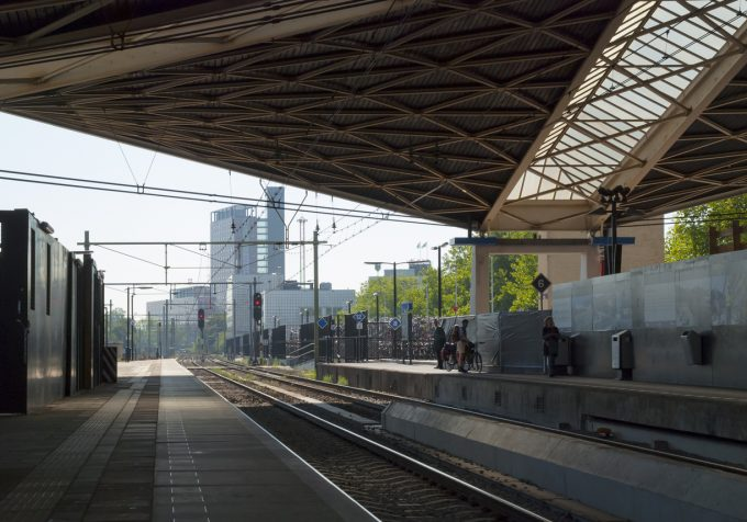 Tilburg gezien vanuit het centraal station